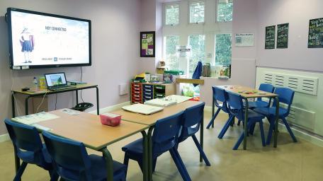 Orbis Education & Care - Ty Coryton inside classroom